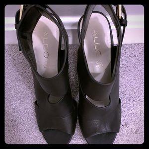 ALDO black ankle heels